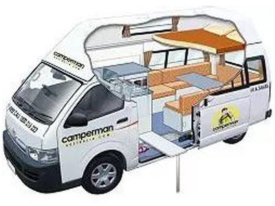 Ford Transit Cutaway >> Camperman Paradise HighTop Campervan with T & S – 5 Berth