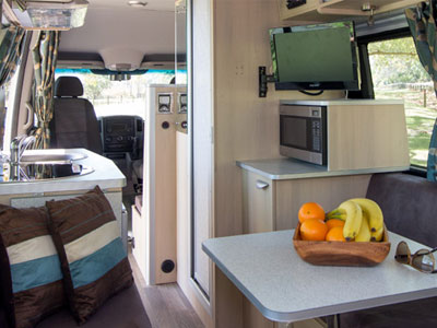 Kea Luxury Campervan 3 Berth Interior Shot