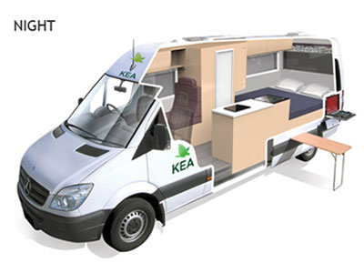Kea Luxury Campervan 3 Berth