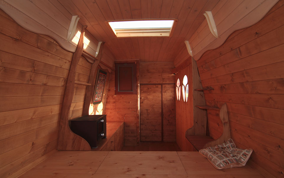 Man Turns Work Van Into DIY Motorhome Tiny Cabin ...