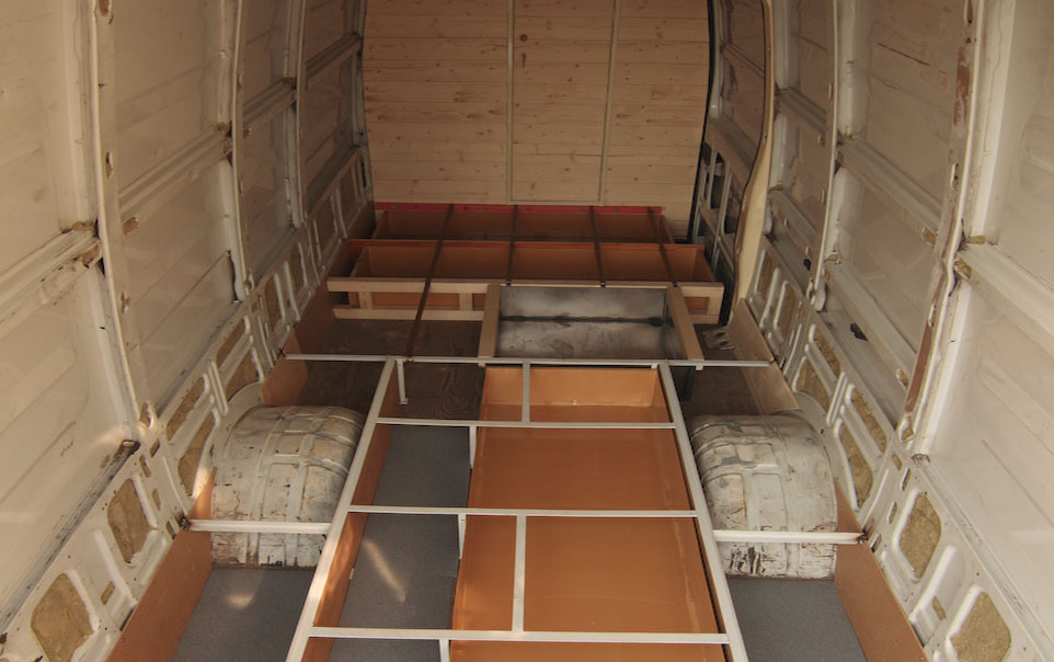 converting-van-into-camper-interior