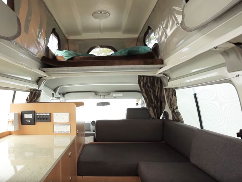 4WD Camper interior seating area
