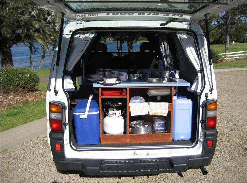low top campervan features in boot