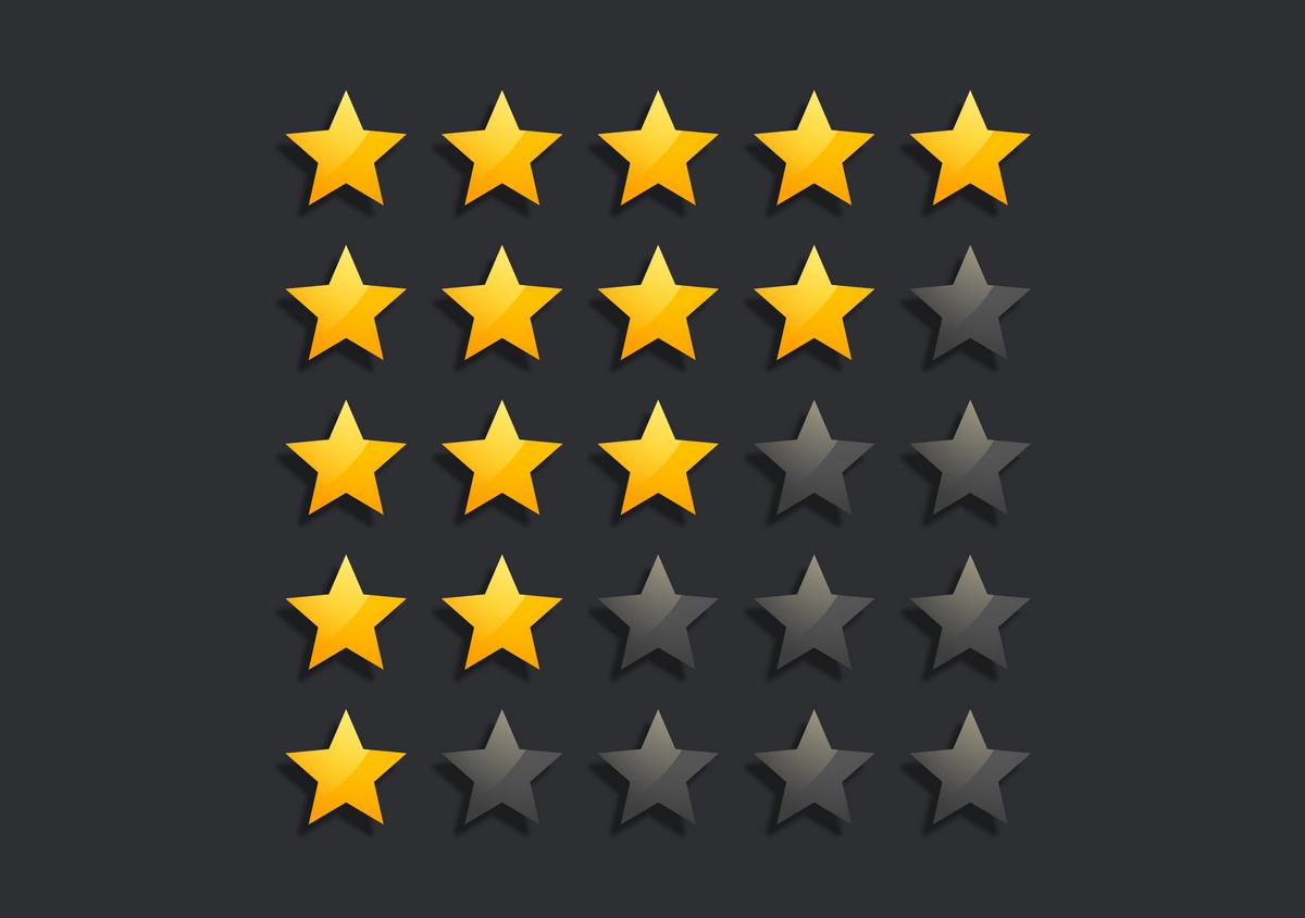 Картинка рейтинга звездочки